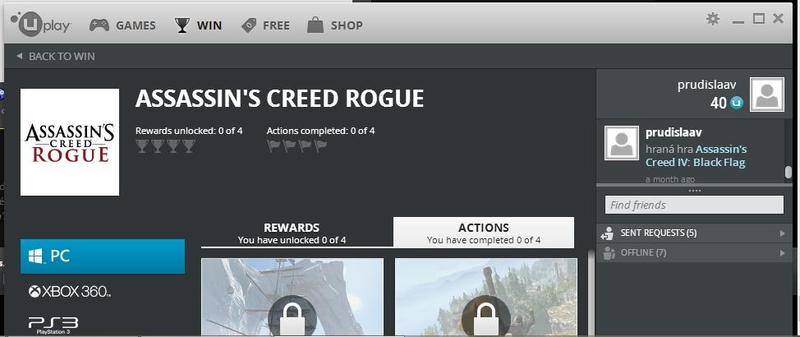 Assassin's Creed Rogue Uplay Leak