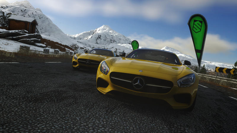 Driveclub Yellow Mercedes