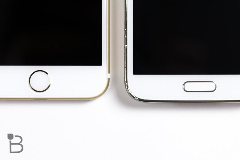 iPhone 6 vs iPhone 6 Plus and Android-Samsung Galaxy S5-3