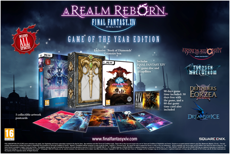 FFXIV: A Realm Reborn Getting a Game of the Year Version for PC