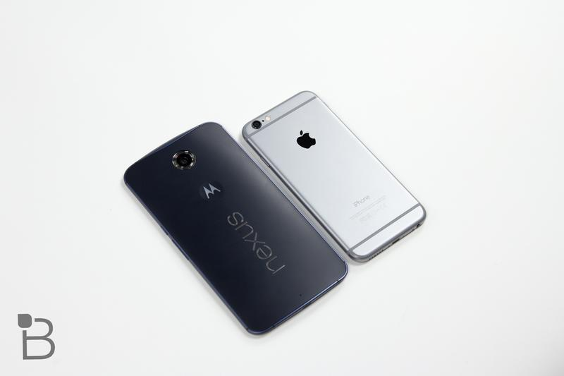 Google Nexus 6 vs iPhone 6-5