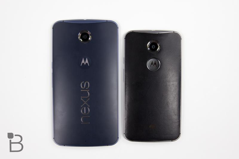 Google Nexus 6 vs Moto X 2014-2