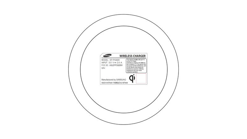 Samsung Wireless Charger FCC