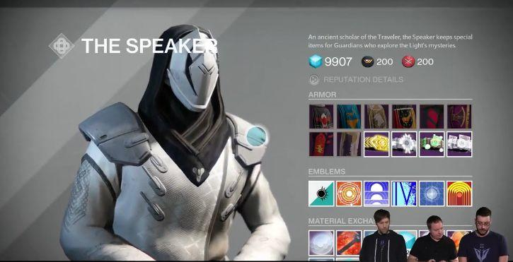Destiny The Speaker