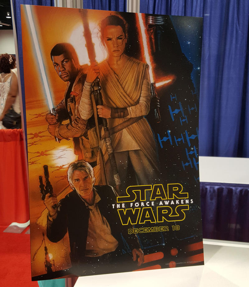 Star Wars The Force Awakens D23 poster