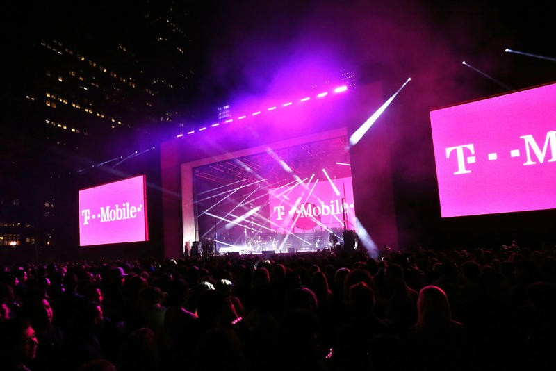 IN THIS IMAGE DISTRIBUTED BY AP IMAGES FOR T-MOBILE - T-Mobile celebrates reaching more than 200 million people nationwide with its 4G LTE network with a special event for customers featuring Shakira in New York's Bryant Park on Wednesday, Oct. 9, 2013. T-Mobile has also extended unlimited data and texting to Simple Choice customers traveling in more than 100 countries. (Jason DeCrow/AP Images for T-Mobile)