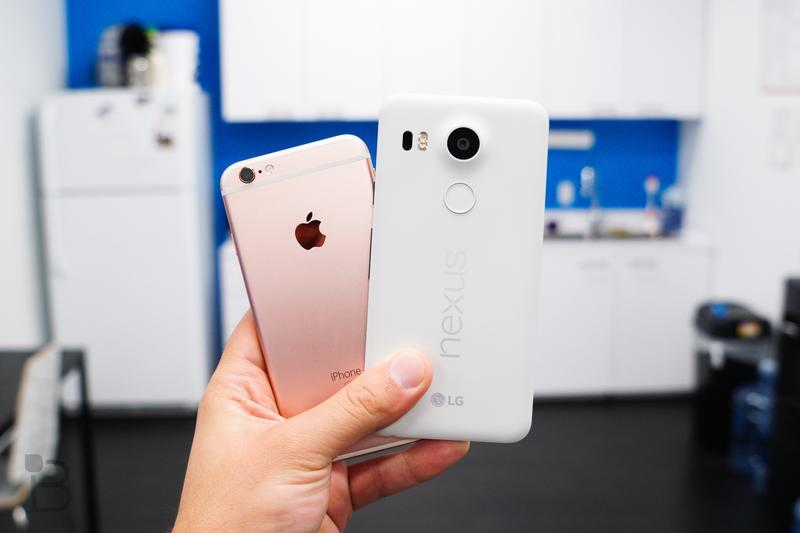 Nexus 5 - iPhone 6s-1