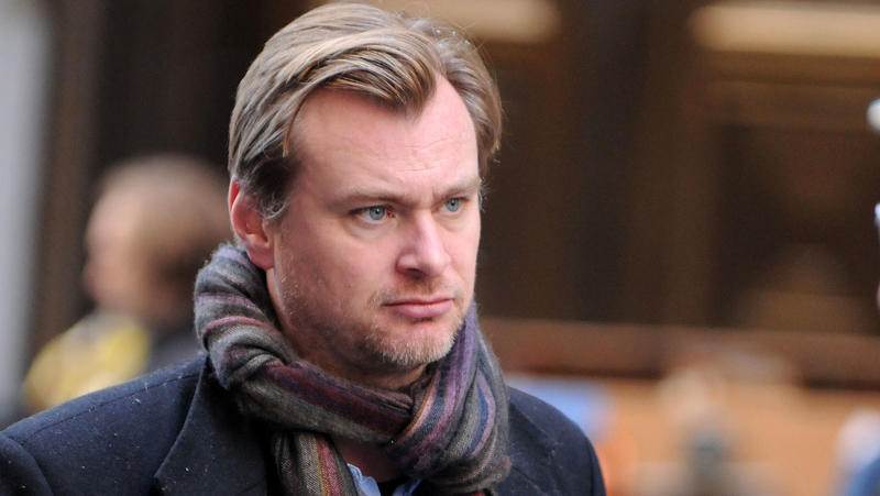 Director Christopher Nolan works on the set of the latest Batman film,