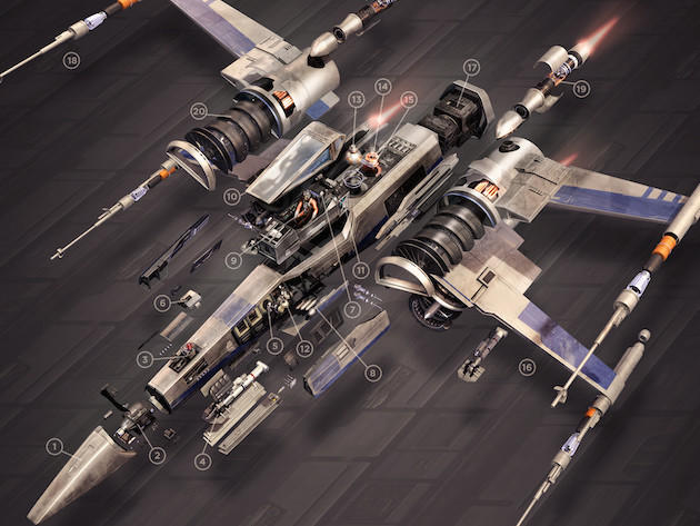 Star Wars X-Wing cross-section