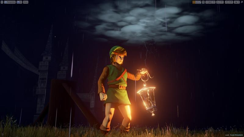 The Legend of Zelda: A Link to the Past's intro remade in Unreal