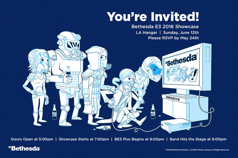 Bethesda E3 2016 Showcase Invite