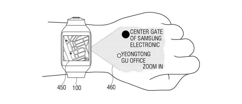 Samsung Patents Smartwatch That Projects A Ui Onto Your Hand