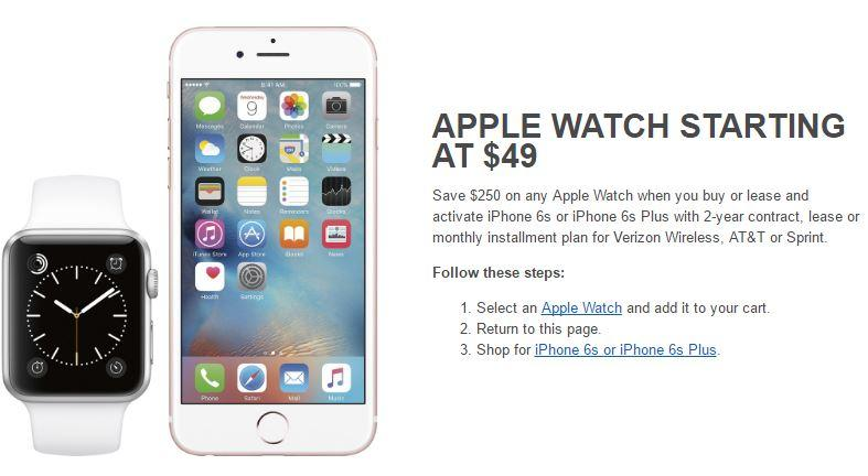 finest selection 1e709 3995a Best Buy selling Apple Watch for just $49 with new iPhone 6s ...