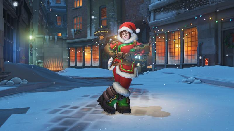 Overwatch Christmas Skins.Overwatch Blizzard Says Sorry For Mei S Legendary Christmas