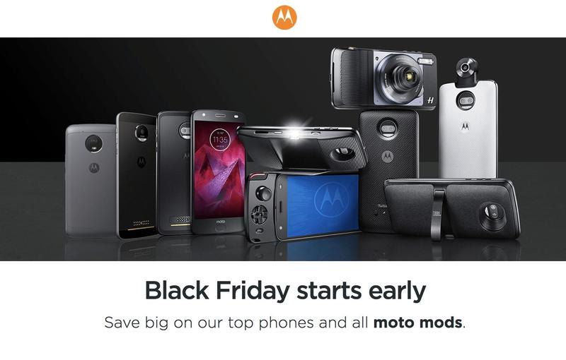 Moto Z2 Play, Moto G5 Plus, and Moto Mods discounted for