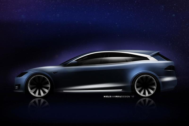 This Tesla concept adds a hatchback to the Model S, and it looks