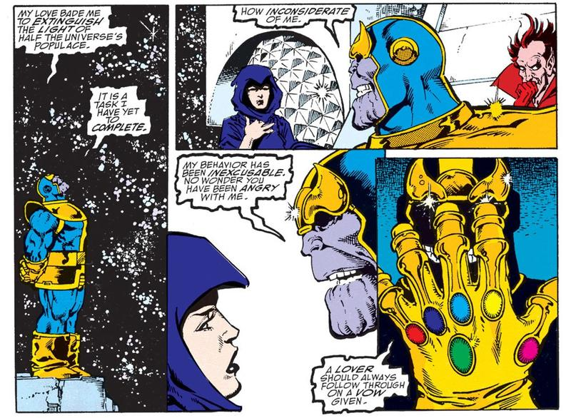Thanos talks to Death