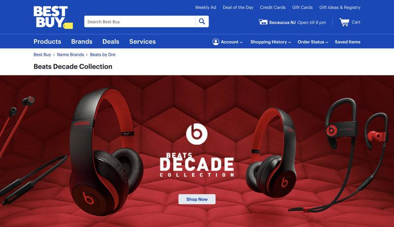 087e6de2cd8 Don't expect entirely new products, though. The Beats Decade Collection  will just put a fresh coat of paint on existing headphones and earbuds.