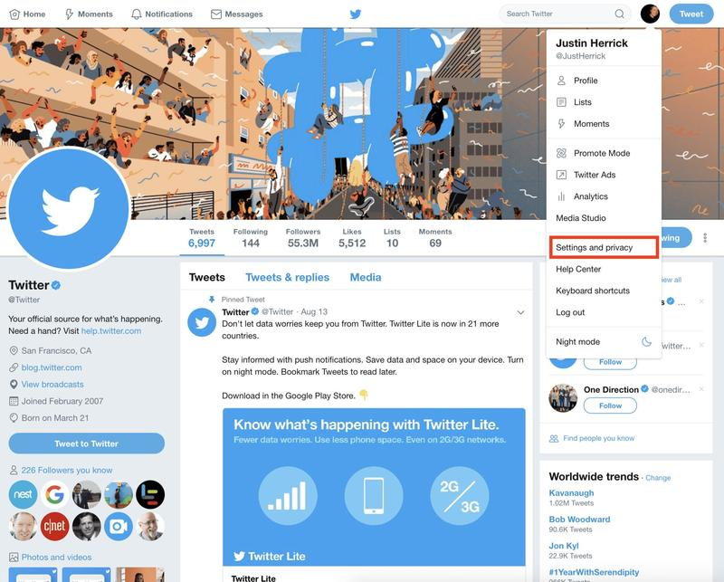 How to Delete Your Twitter Account - Twitter Profile