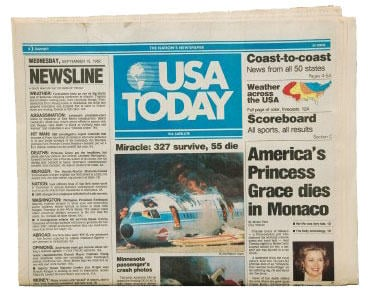 USA Today first issue