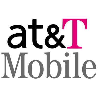 AT&T and T-Mobile Merge (Text Logo)