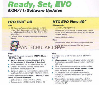 EVO View 4G update