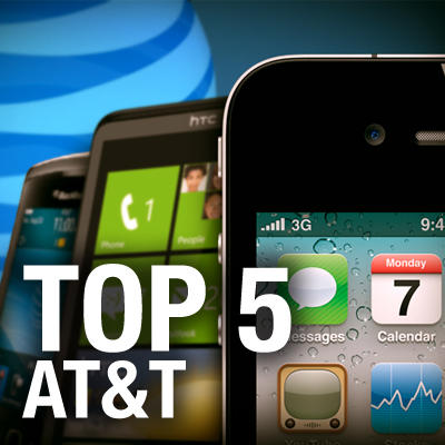 Top 5 AT&T Phones Featured