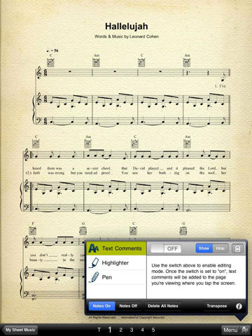 Musicnotes Sheet Music Viewer for iPad