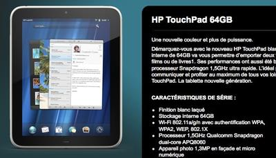 64GB HP TouchPad