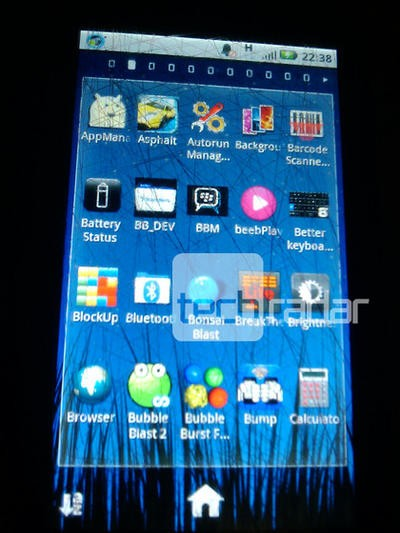 BBM on Android home screen