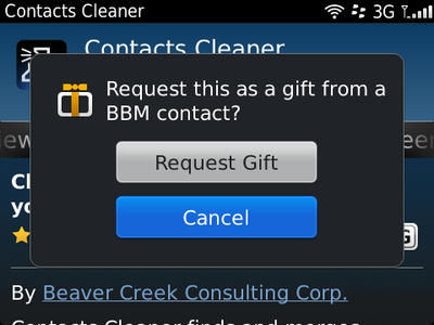 BlackBerry app gifting