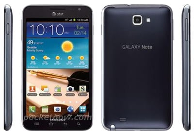 Samsung Galaxy Note on AT&T