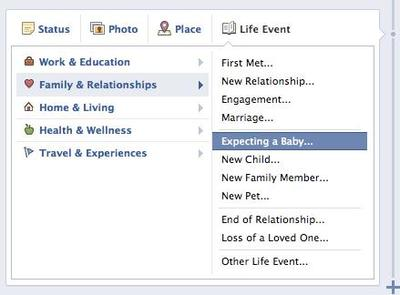 Facebook expecting baby1