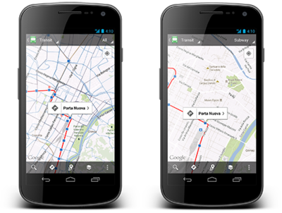 Google Maps for Android Transit Update