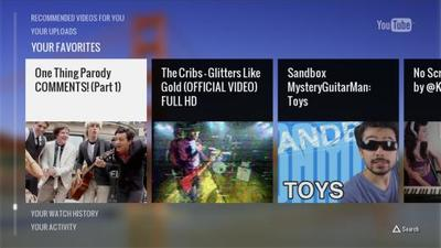 YouTube app on PS3