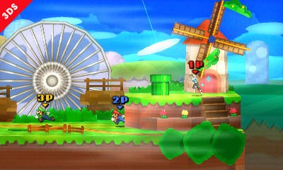Super Smash Bros 3DS - Paper Mario Stage - 1