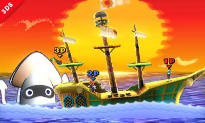 Super Smash Bros 3DS - Paper Mario Stage - 2