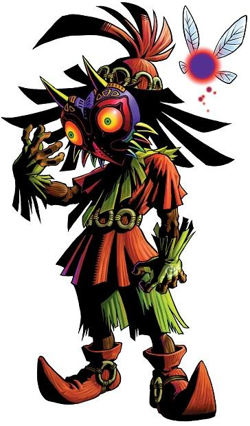 The Legend of Zelda - Ocarina of Time - Skull Kid in Majora's Mask