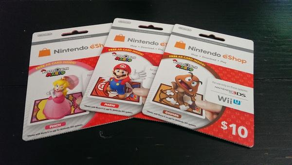 Nintendo eShop Codes Now Come with New 3DS AR Cards