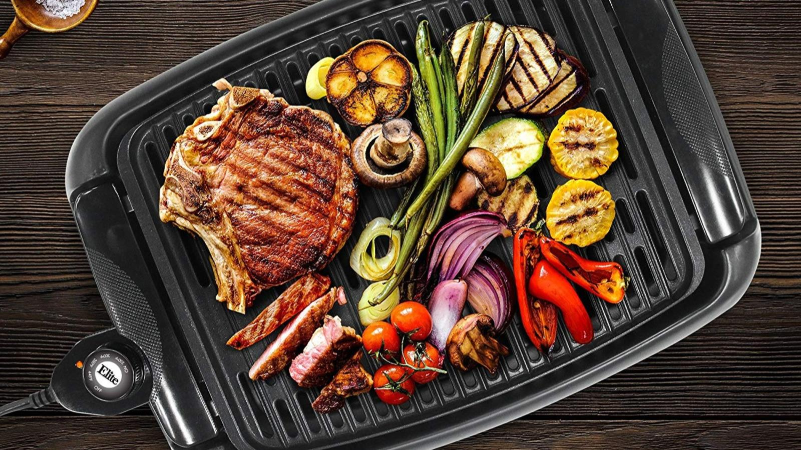 Top down Maxt-Matic indoor grill