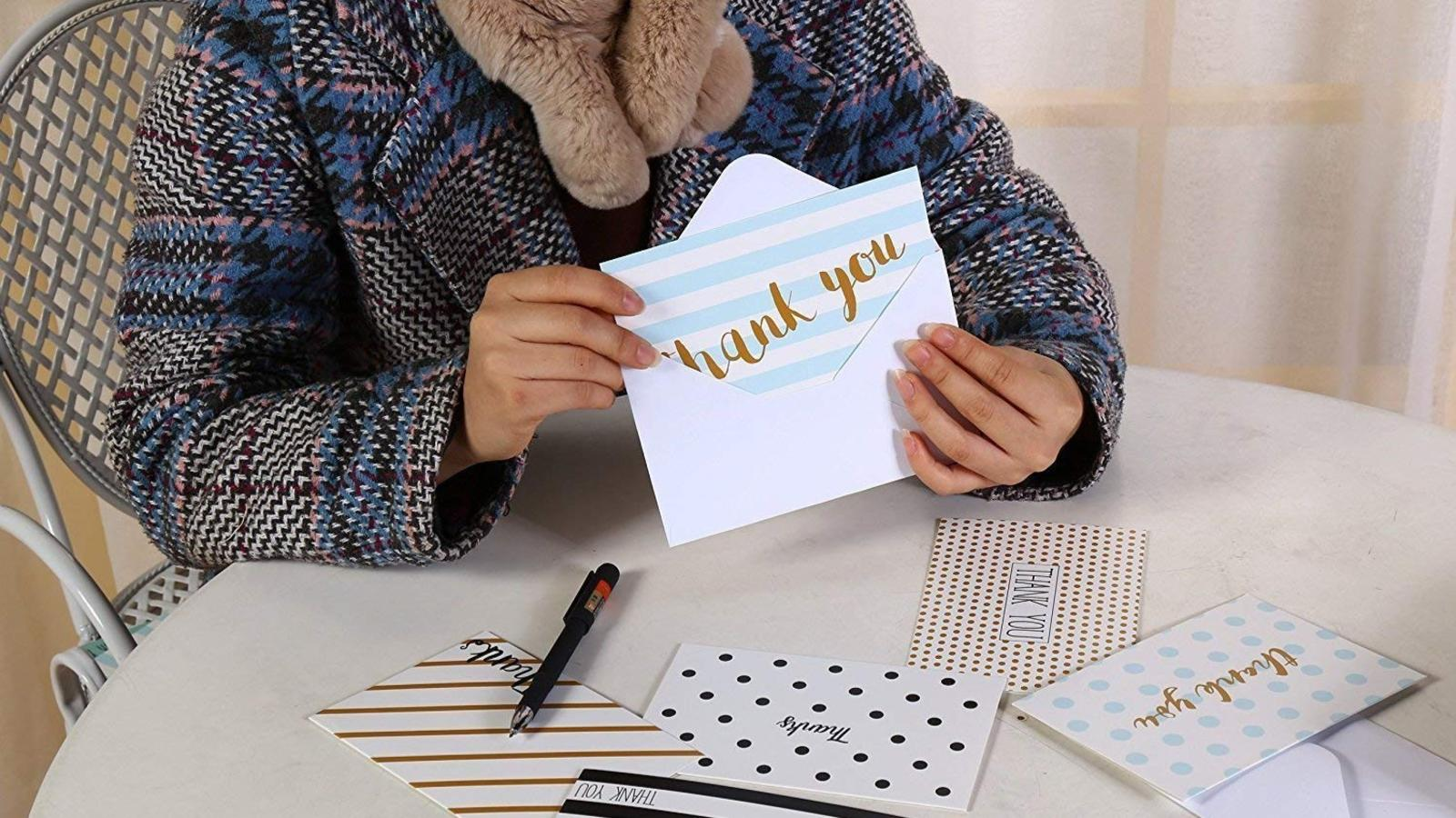 Best thank you cards hero