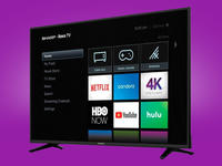 Binge your favorite shows with Sharp's 50-inch 4K Roku TV on sale for $280
