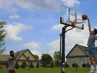 Practice your free throws with these basketball hoops