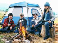 Bring the whole crowd along with a large, 4-person tent