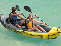 Explore the rivers and lakes with these inflatable kayaks
