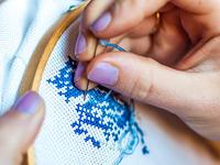 Create the perfect conversation piece with a beautiful cross stitch pattern