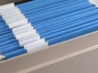 Tackle that document pile with a file folder or two