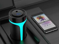 This FM transmitter plays your music and humidifies your car for only $13