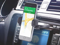 The $11 iOttie Easy One Touch uses your car's CD slot to hold your phone