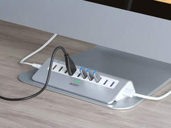The AUKEY Powered 10-Port USB Hub is a desk essential at 50% off